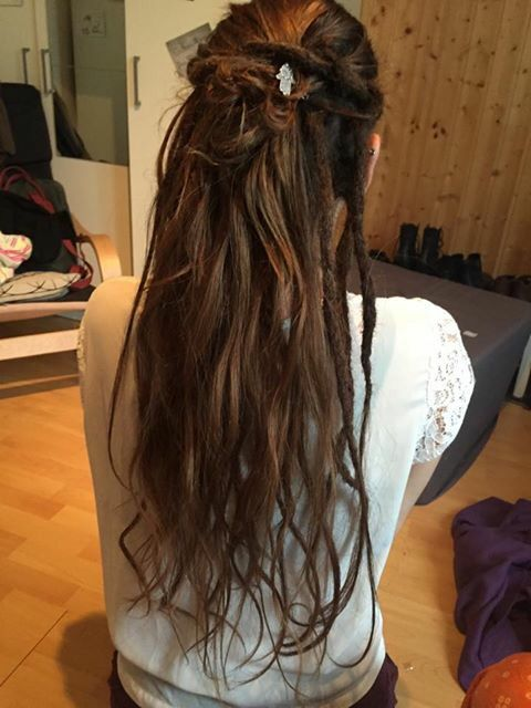 Dreads Im Unterhaar Partial Dreads Hair Styles Half Dreaded Hair