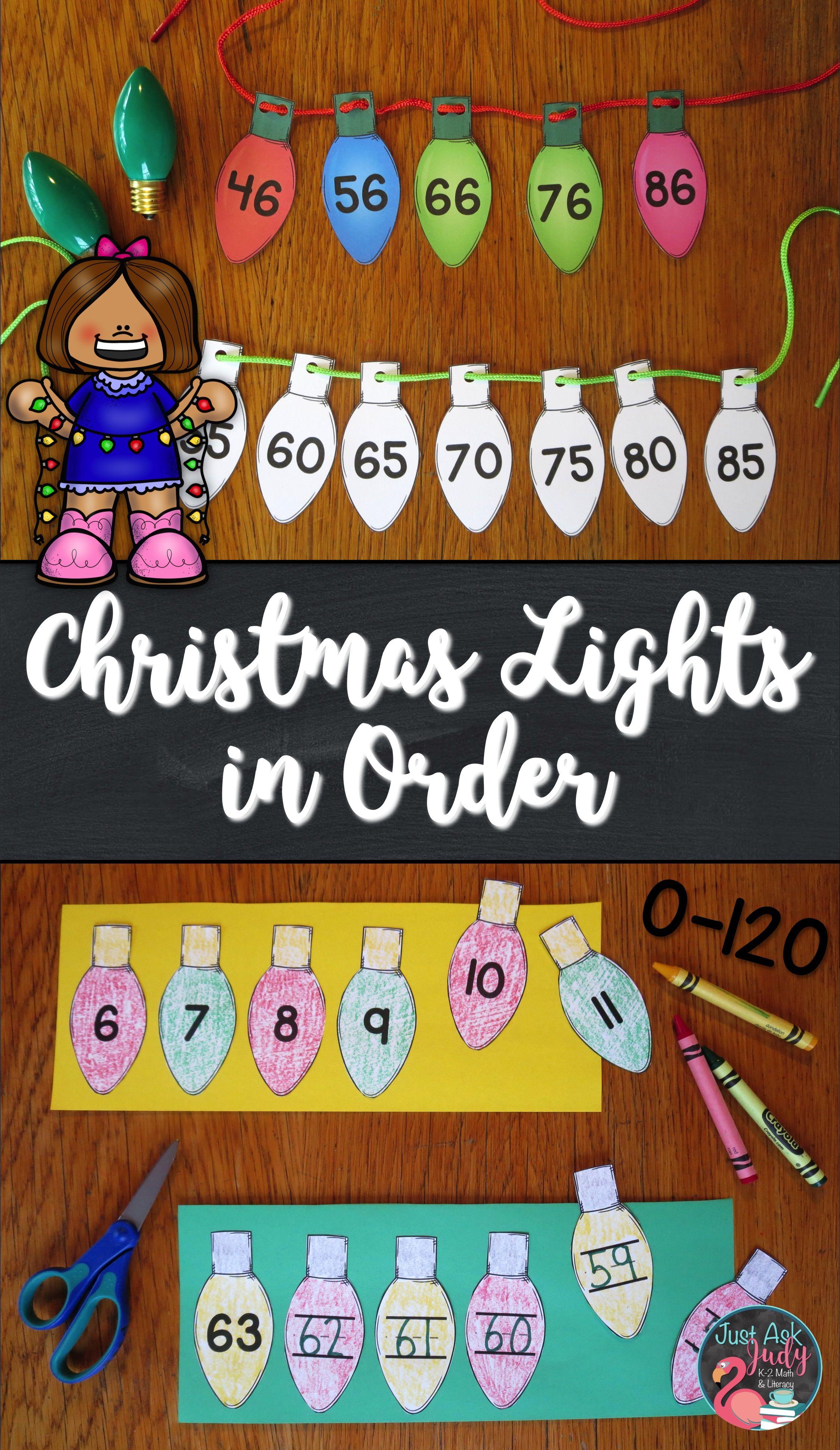 Ordering Numbers 0 120 Christmas Lights