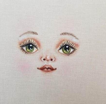 Drawing a face. Draw a doll face .Draw A Face Doll Pdf . | Etsy #dollfacepainting - veganrecipe #dollfacepainting