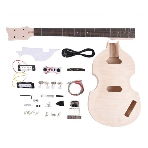 Unfinished diy electric bass guitar kit basswood body maple neck unfinished diy electric bass guitar kit basswood body maple solutioingenieria Image collections