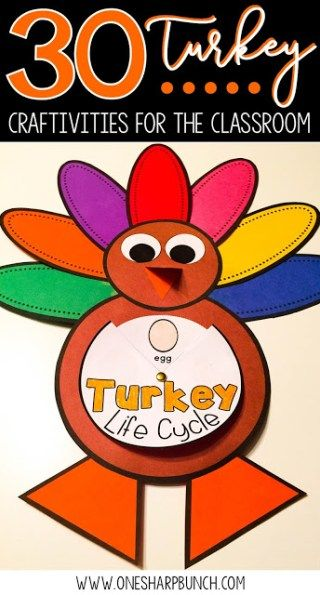 Easy DIY turkey crafts for your classroom, including FREE turkey activities, turkey headband, pattern block turkey, handprint turkey and many more Thanksgiving crafts and activities for kids! You won't want to miss the adorable popsicle stick turkey! #handprintturkey