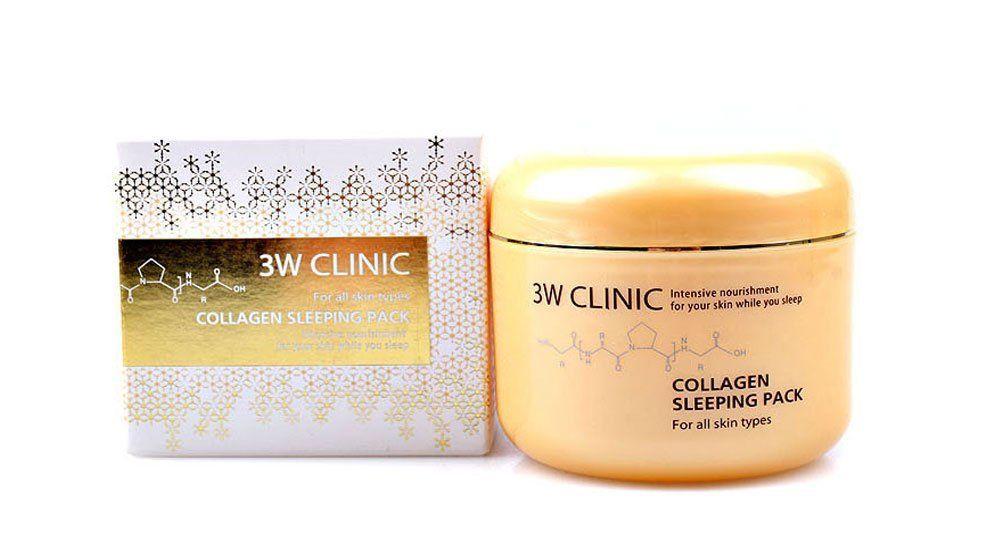 3W Clinic Collagen Sleeping Pack Marine Collagen