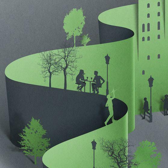 New York by Eiko Ojala, via Behance                                                                                                                                                                                 Mais