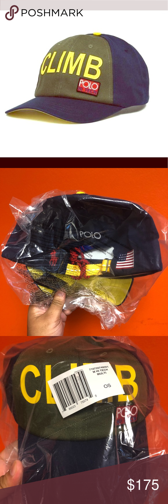 Polo Ralph Lauren Hi Tech Climb hat Up for sale is a Ralph Lauren Polo  Climb cap Brand New with tags. One size fits all with an adjustable strap. 1b2b915376b