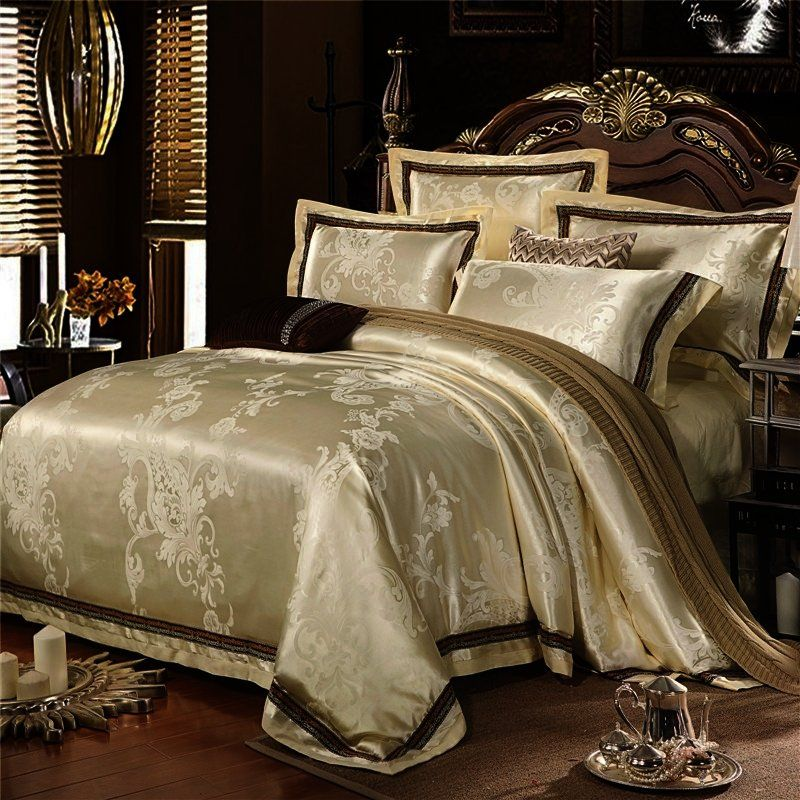 Gorgeous Sparkle Champagne Gold And Beige Rococo Pattern Rustic