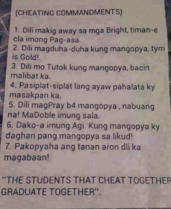 cheating commandments tagalog quotes tagalog quotes patama