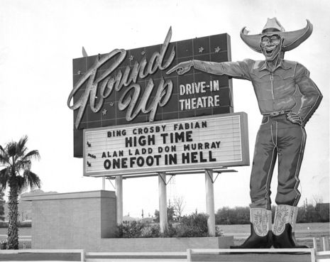 In 1956 Paul Millet Created The Neon Sign For Round Up Drive Theatre Scottsdale