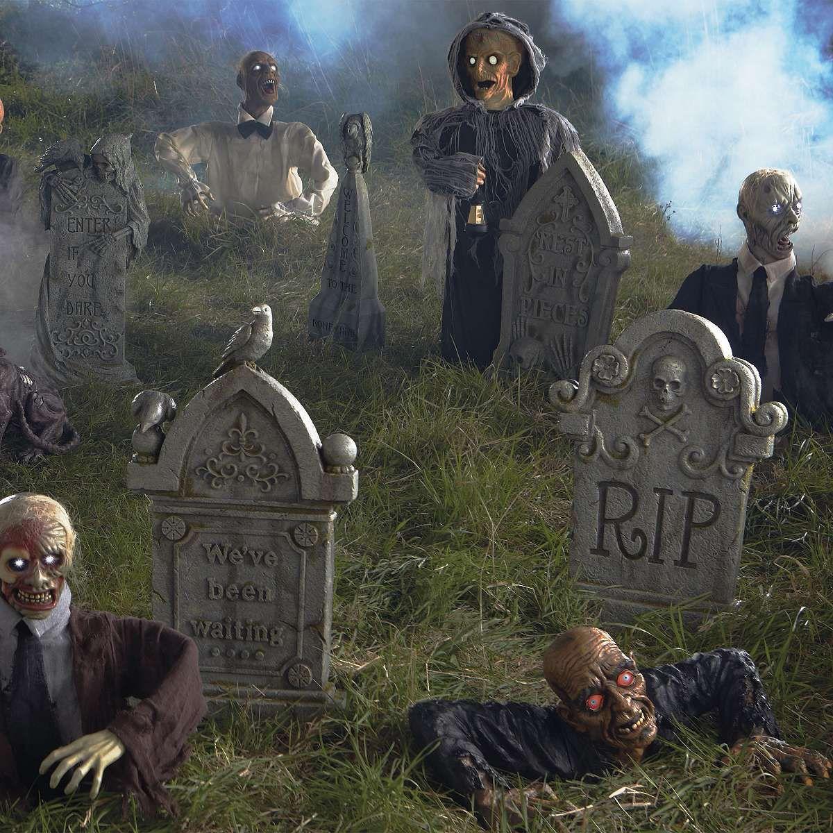 Zombie Halloween Graveyard Decoration