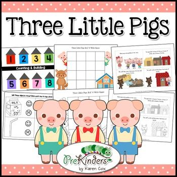 three little pigs activity pack pre k preschool three little pigs three little pigs. Black Bedroom Furniture Sets. Home Design Ideas