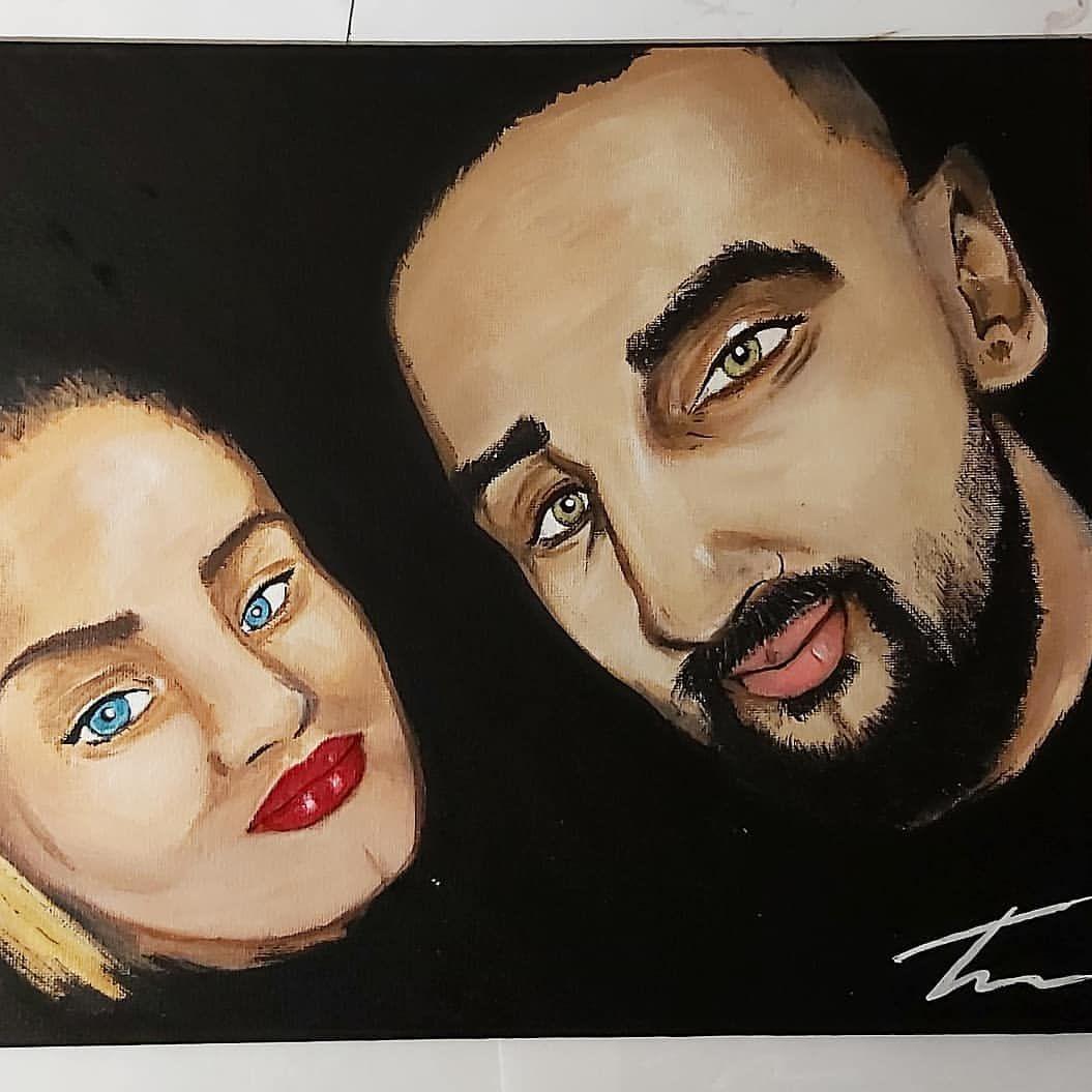 #dailypainting #workinprogress #wip #paintartist #madebyme #instaartwork #instapainting # #couplepainting #canvaspaintings #instagood #instaartist #commisionwork #couplegoals #paintingoftheday @amsterdamacrylics #BestProduktintown