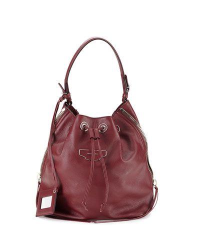 4a6c521885 L0JVL Balenciaga Papier Plate Side-Zip Bucket Bag