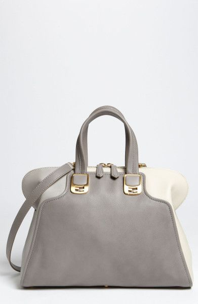 f0716ccfb0fe Chameleon Colorblock Calfskin Leather Top Zip Tote - Lyst