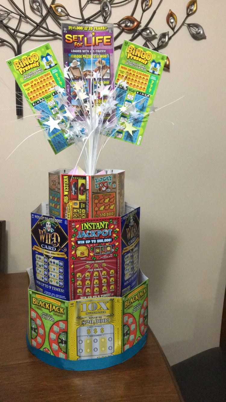 Scratch Ticket Cake 70th Birthday Gifts 70 Gift Ideas Casino Cakes Lottery