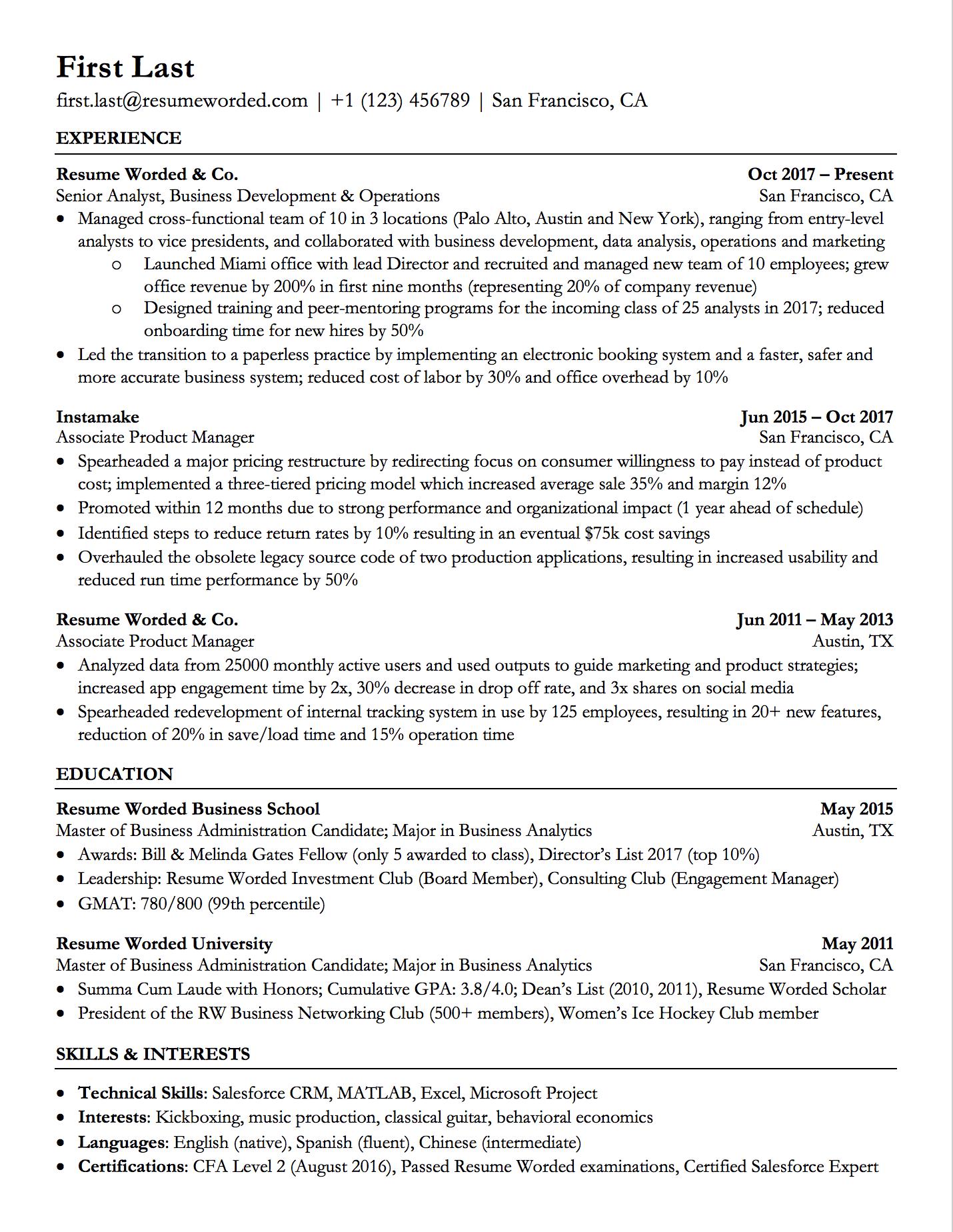Free Robotfriendly Resume Templates in 2020 Job resume