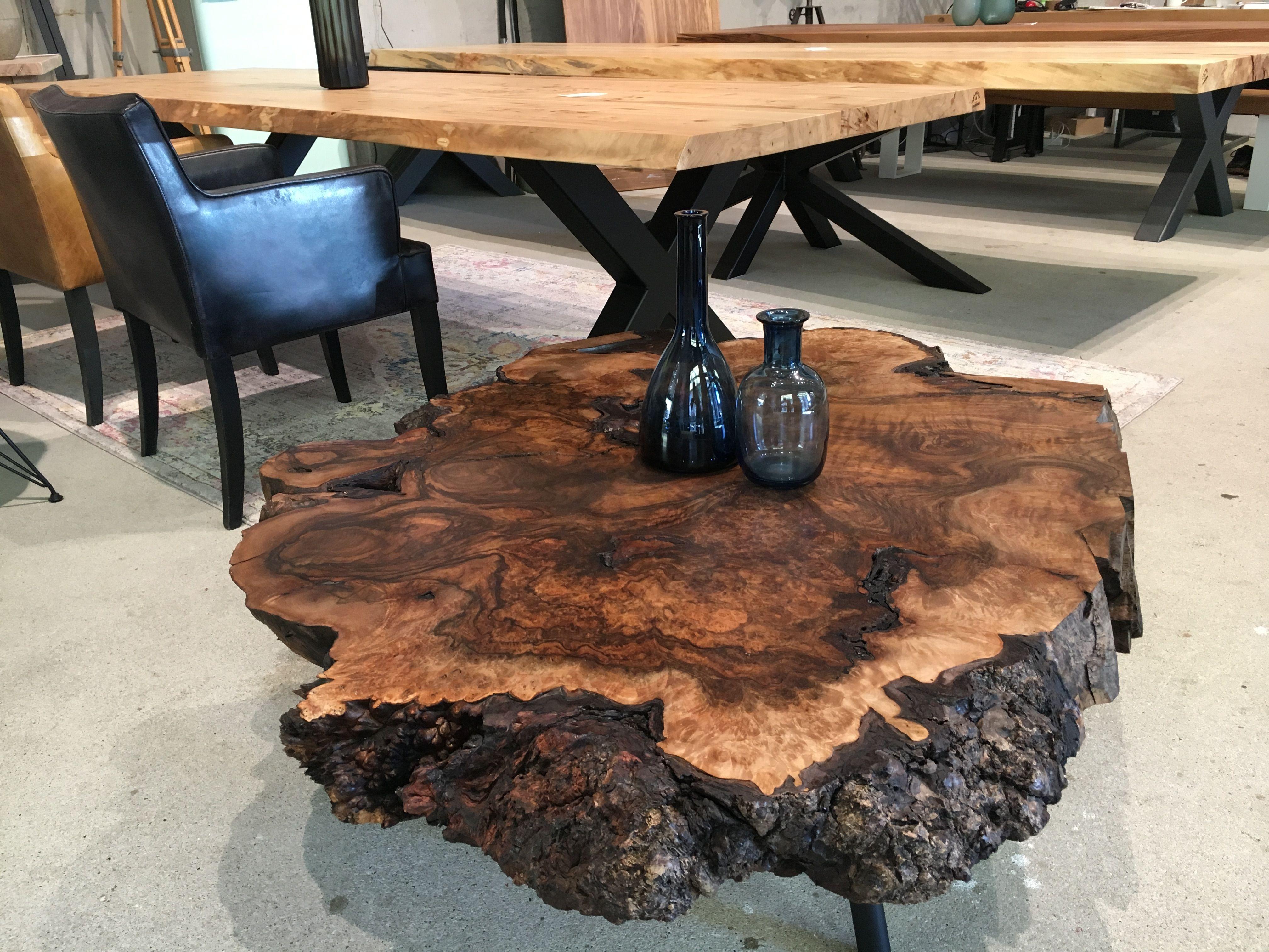 Couchtisch Baumscheibe Tisch Massivholztisch Www Holzwerk Hamburg