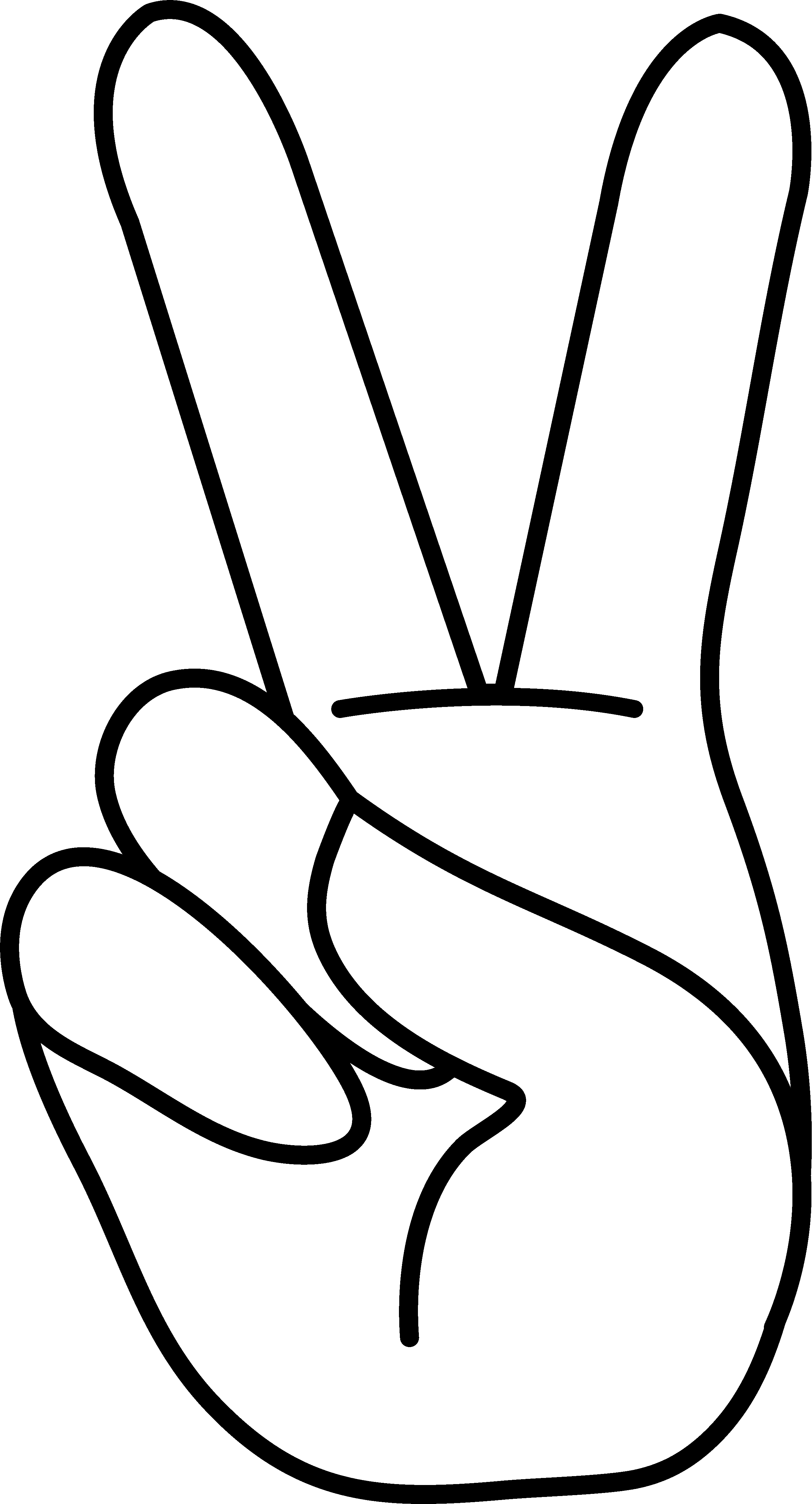 Sweetclipart Com Multisite Sweetclipart Files Peace Hand Sign Blank Png Peace Sign Art Peace Sign Drawing Peace Sign Hand