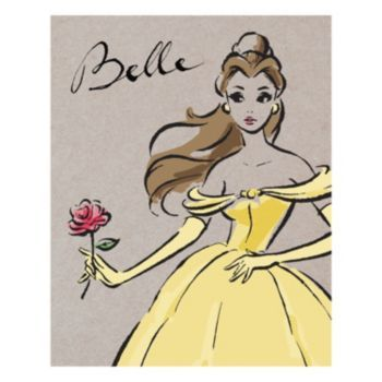 Disney Princess Belle Fashionista Canvas Wall Art