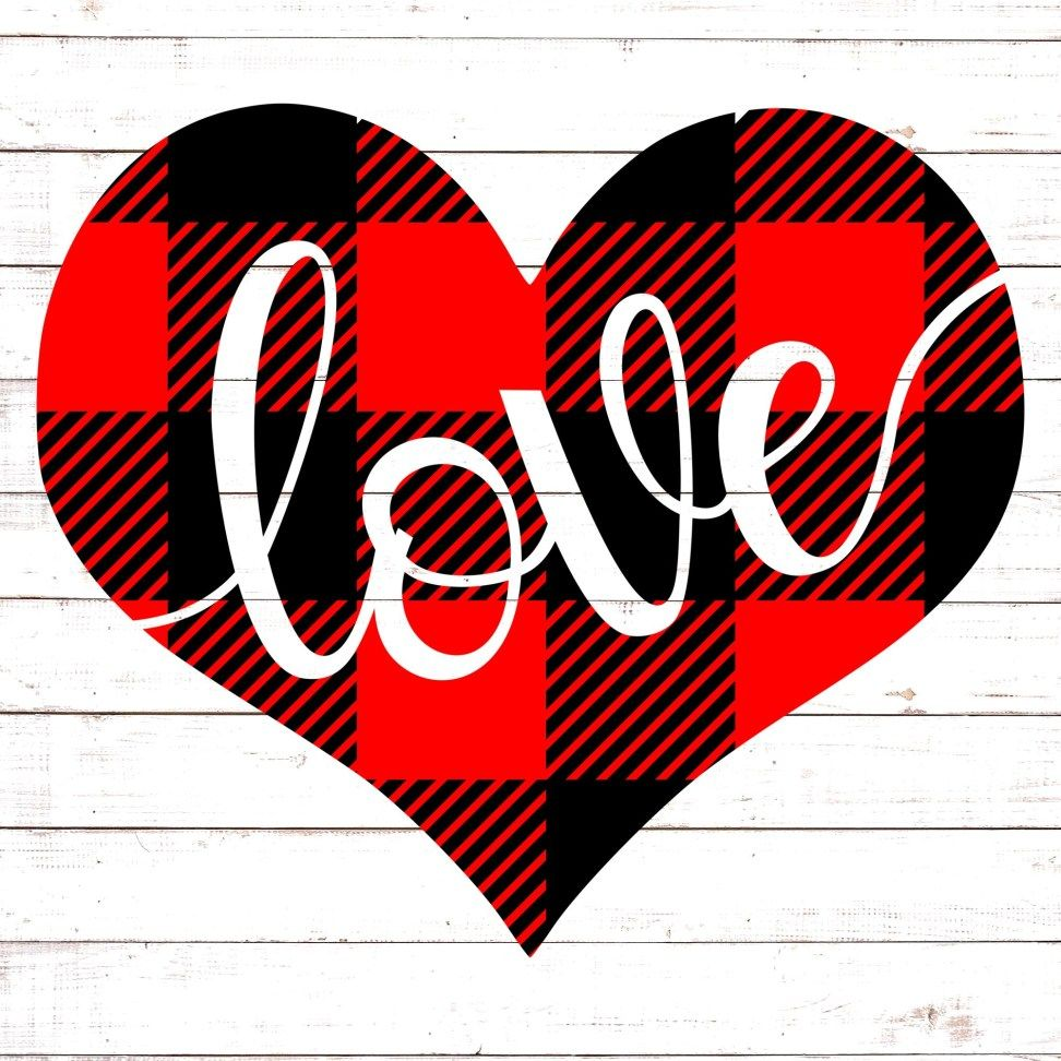 Love With Heart in 2020 Free valentine svg files