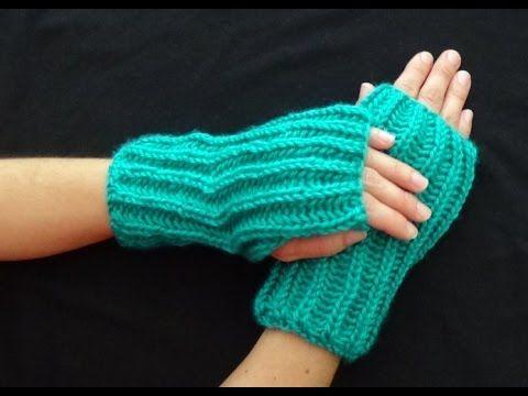Cómo tejer mitones o guantes sin dedos. - YouTube | Suéteres para ...