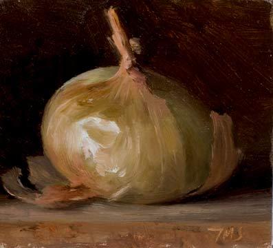 Pin on paintings of onions, garlic & mushrooms