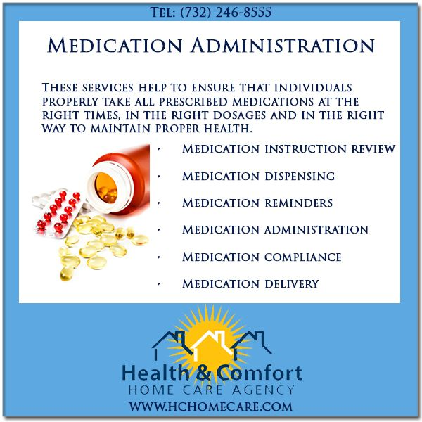 We provide medication management and administration services in NJ. Medication management and administration services @Health & Comfort Home Care.com help to ensure that individuals properly take all prescribed medications. #hchomecare #homecare #homecareagency in #newjersey #MedicationManagement #MedicationAdministration