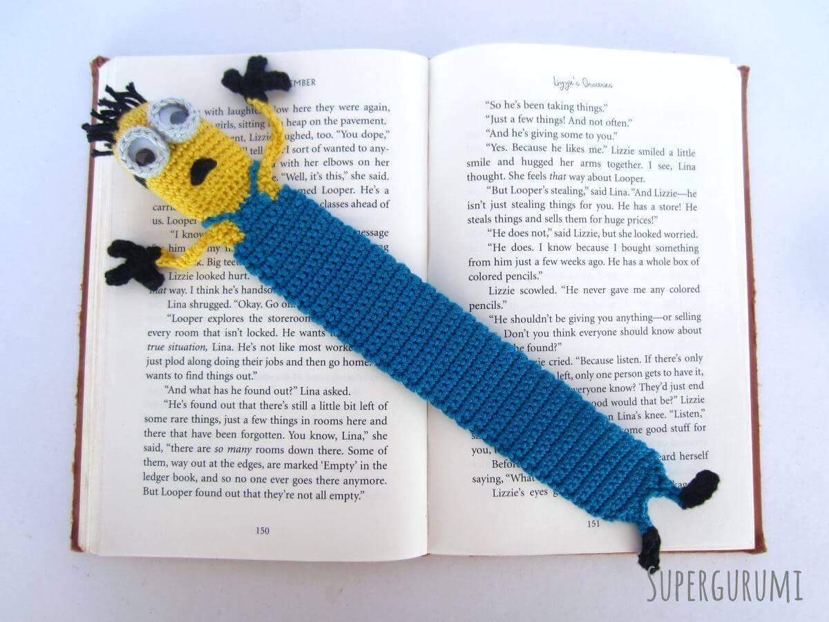 Minion Bookmark | Opskrifter | Ganchillo, Croché og Marcadores de ...