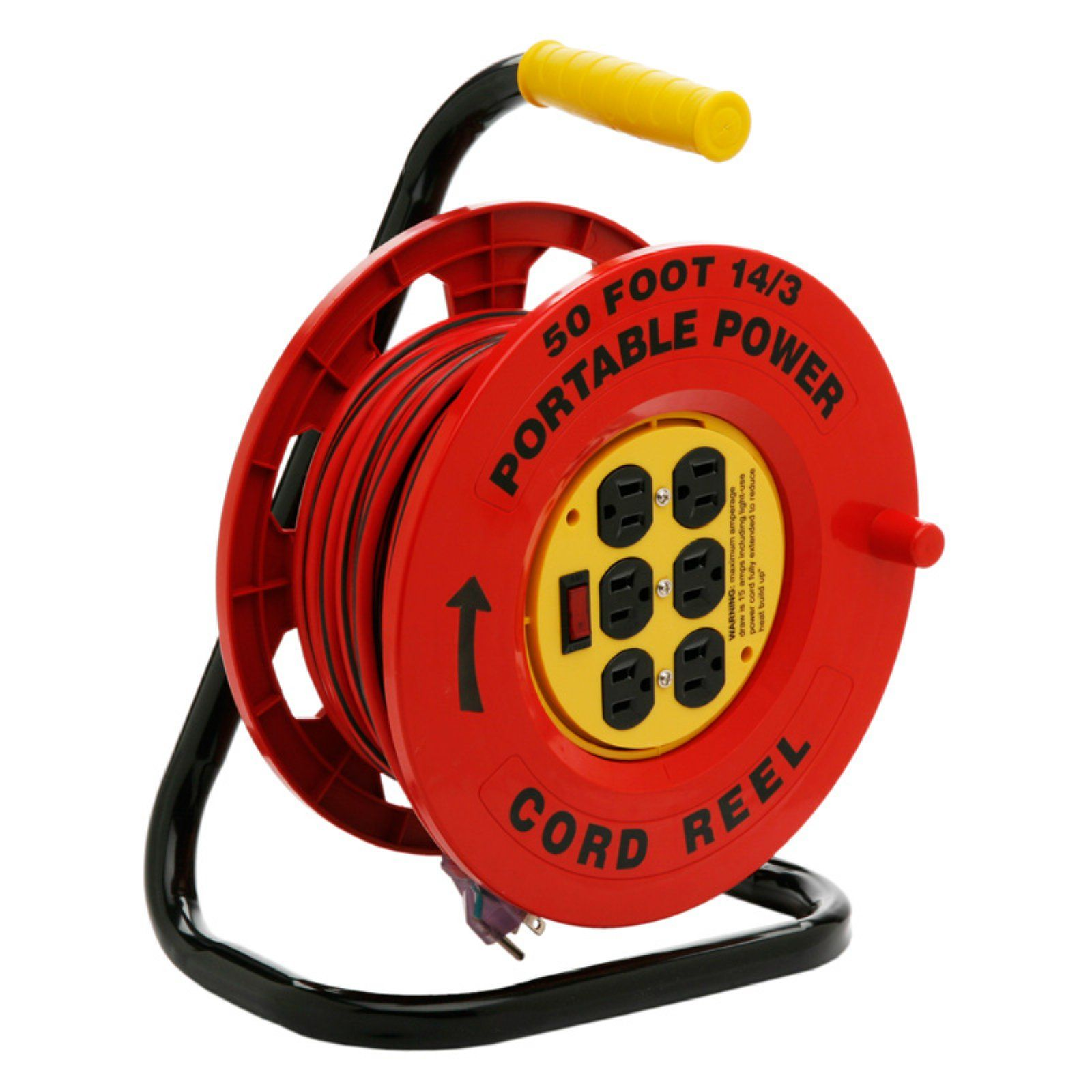 Designers Edge Cord Reel With 6 Outlets 50 Ft Power Station