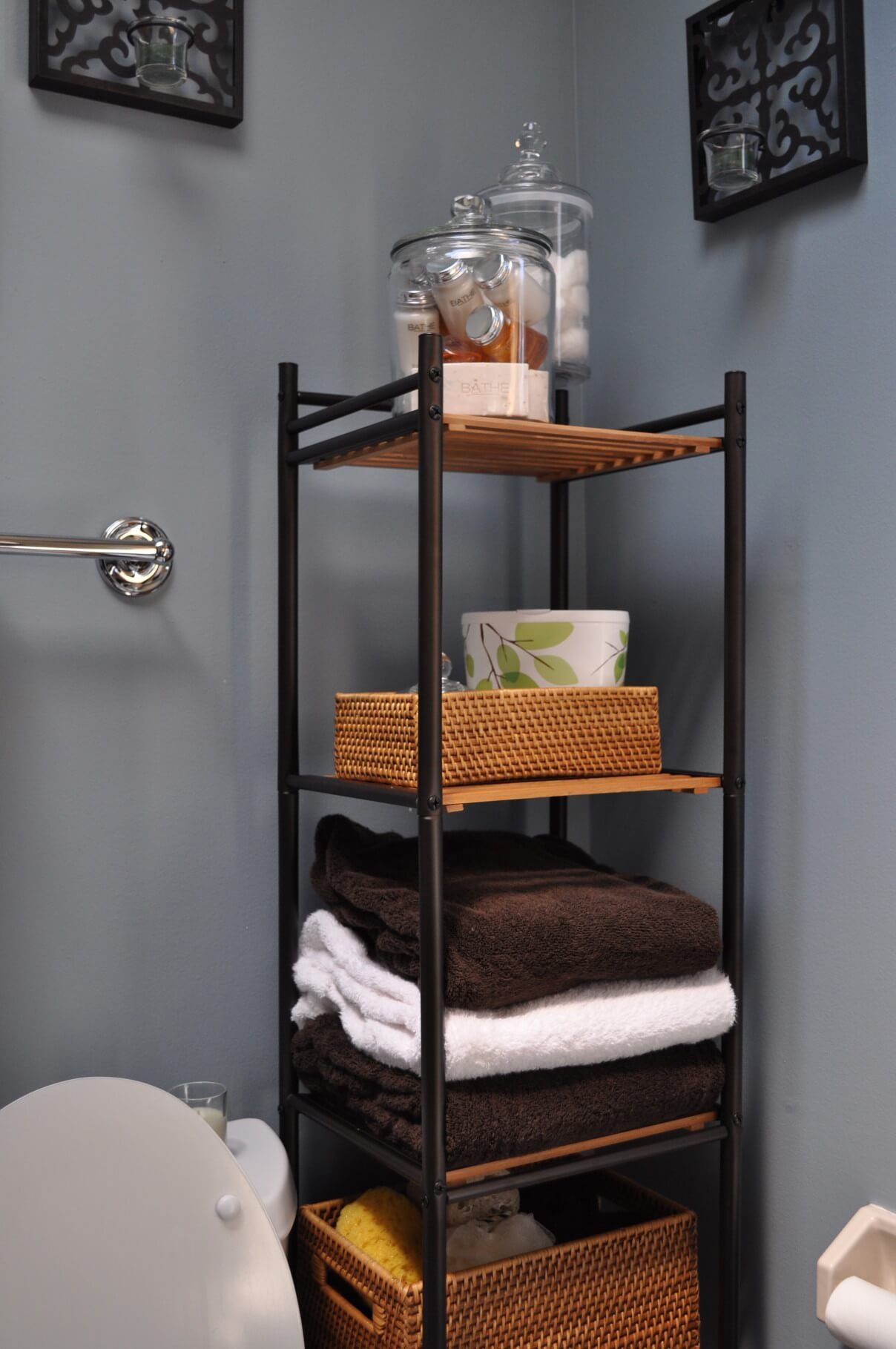 44 Unique Storage Ideas For A Small Bathroom To Make Yours Bigger Amusing Small Bathroom Stands Decorating Design