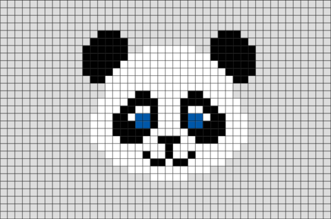 Panda Pixel Art Neuleita Pixel Art Pixel Art Templates Ja