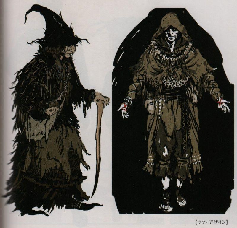 Dark Souls Concept Art - Pyromancer Concept Art | Videogame Art