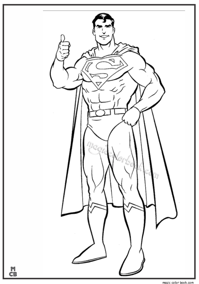 Superman Coloring Pages Printable 04 | desktop | Pinterest