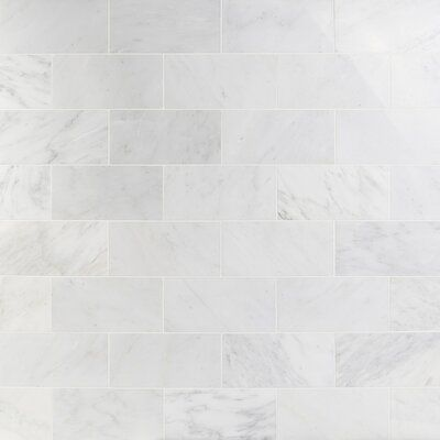 Ivy Hill Tile Oriental 6 X 12 Marble Marble Look Tile Wayfair In 2020 Polished Marble Tiles Marble Tile Backsplash Marble Tile