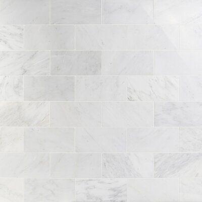 Ivy Hill Tile Oriental 6 X 12 Marble Marble Look Tile Wayfair In 2020 Polished Marble Tiles Marble Tile Backsplash Marble Tile
