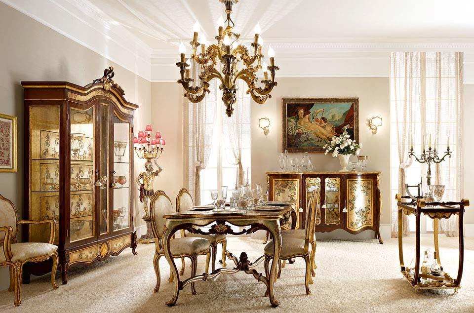 Arredamento Lusso ~ Mobili per il soggiorno classico e di lusso in stile veneziano e
