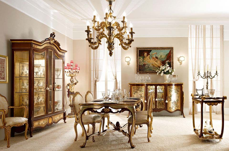Italian Luxury Dining Room Wood Furniture. Andrea Fanfani Italy ...