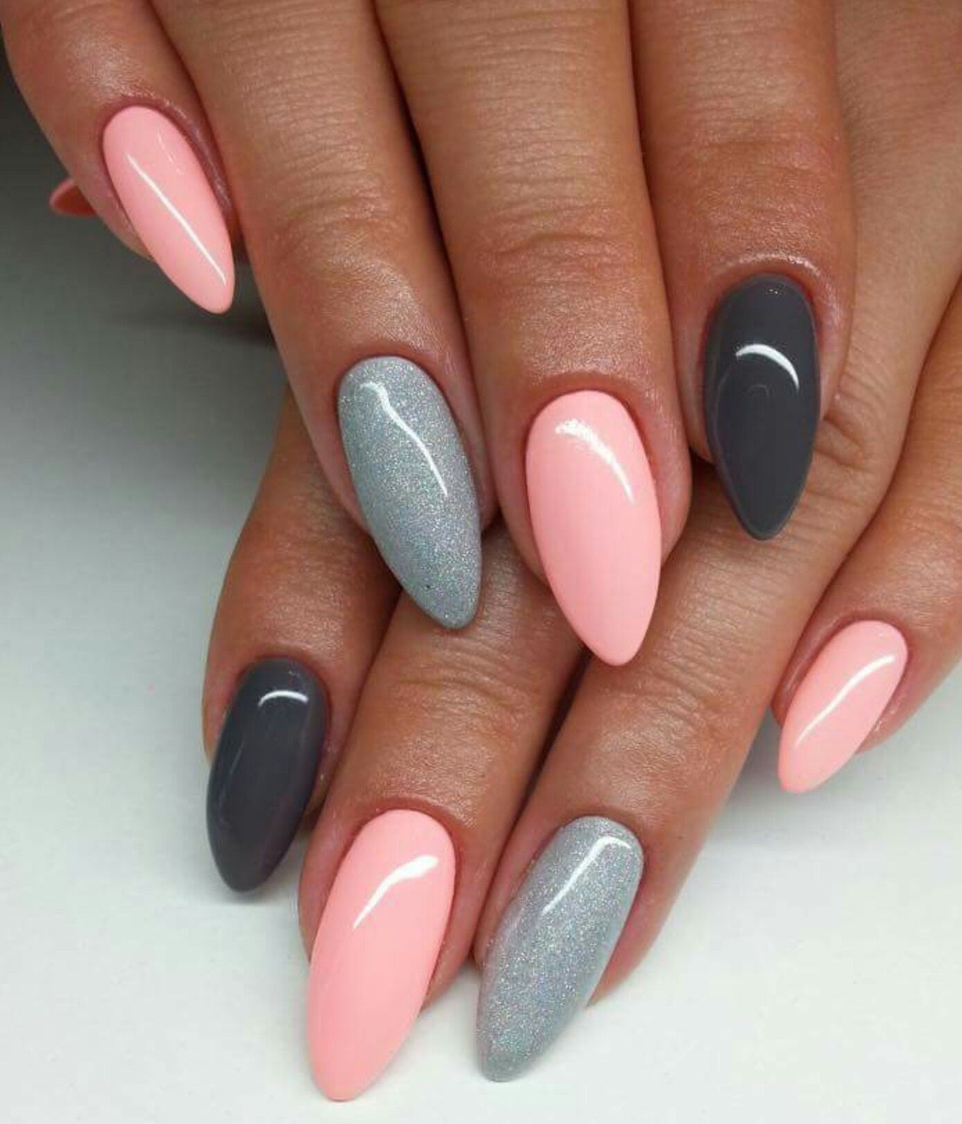 Pink And Grey Nails | Nail Designs | Pinterest | Gray nails, Gray ...