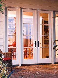 Entry door window systems exterior doors pella windows for Exterior french doors both sides open