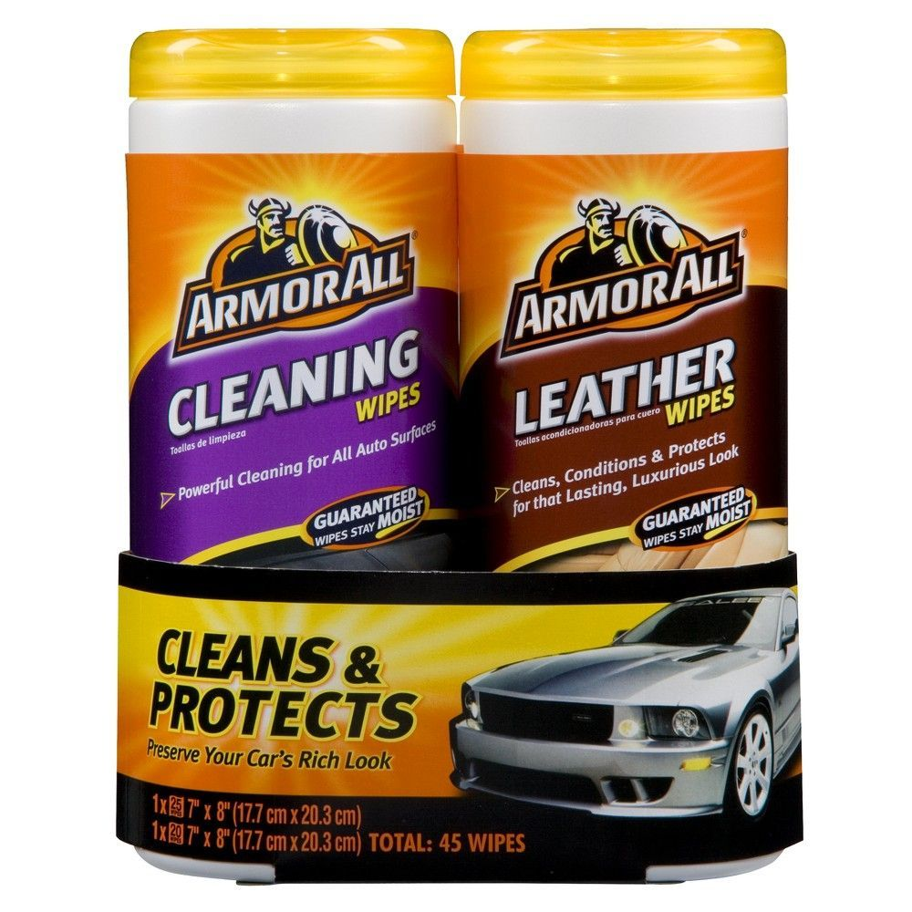 Armor All Cleaning And Leather Wipes Pack 2 Pk Cleaning