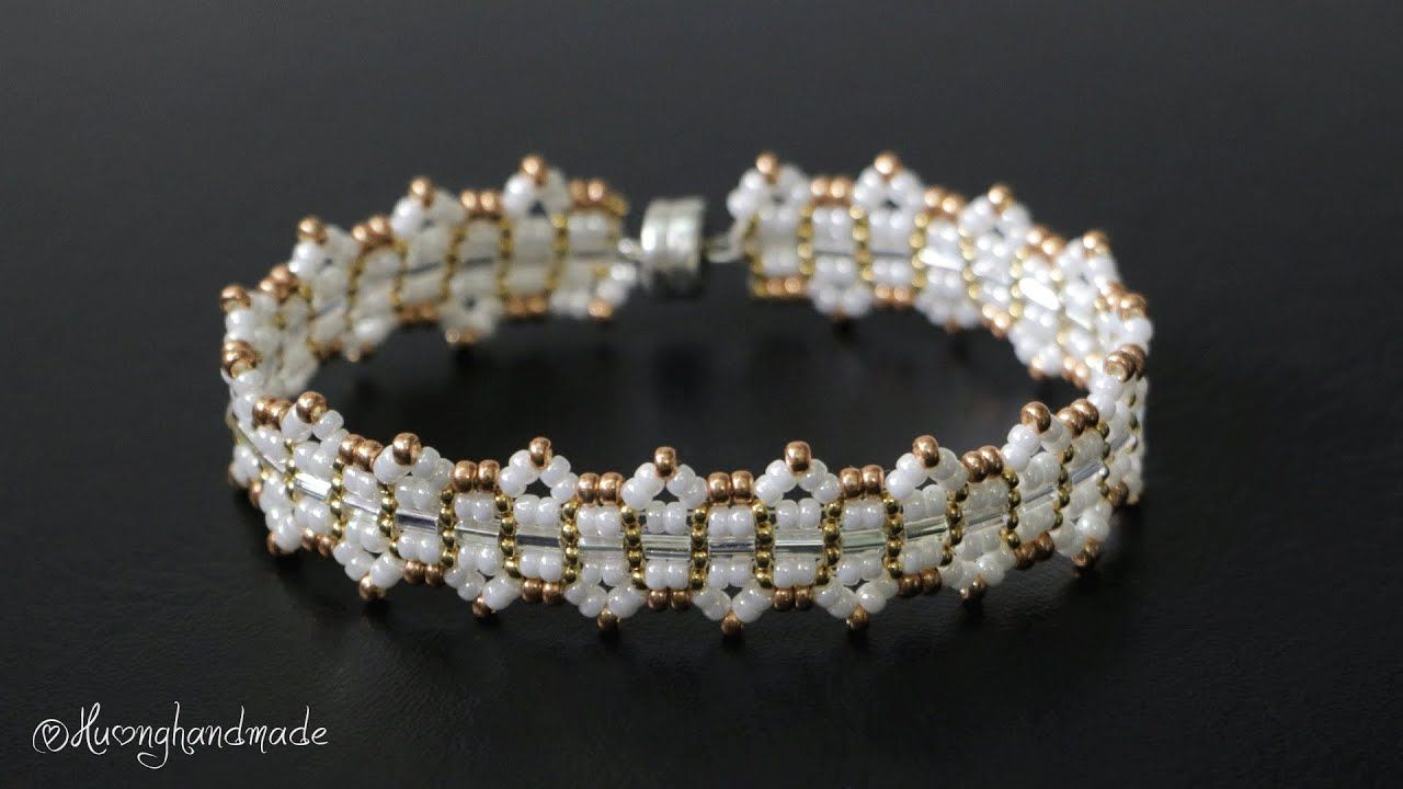 Photo of Elegant beaded bracelet diy. Jewelry making tutorial