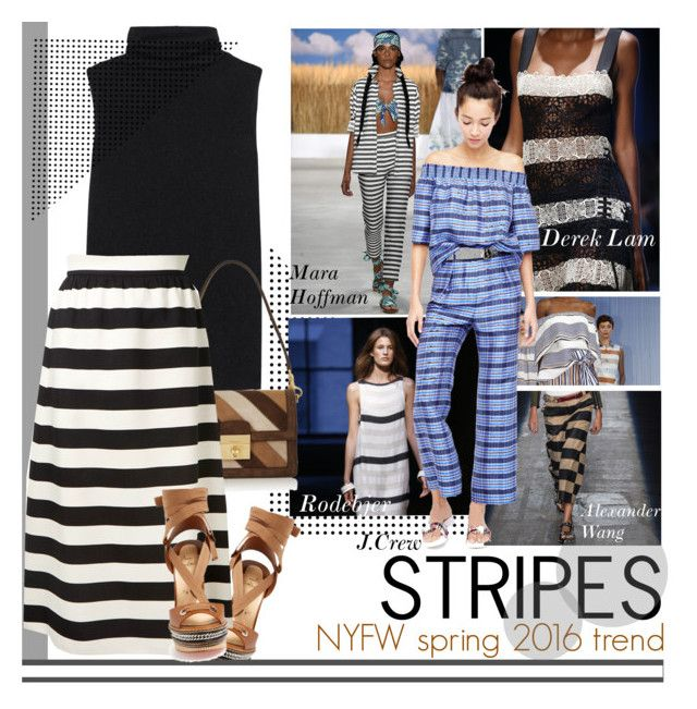 """Best of NYFW: Stripes"" by little-curly-juli ❤ liked on Polyvore featuring Rodebjer, Mara Hoffman, Christian Louboutin, The Row, Dolce&Gabbana, Valentino, Alexander Wang and J.Crew"