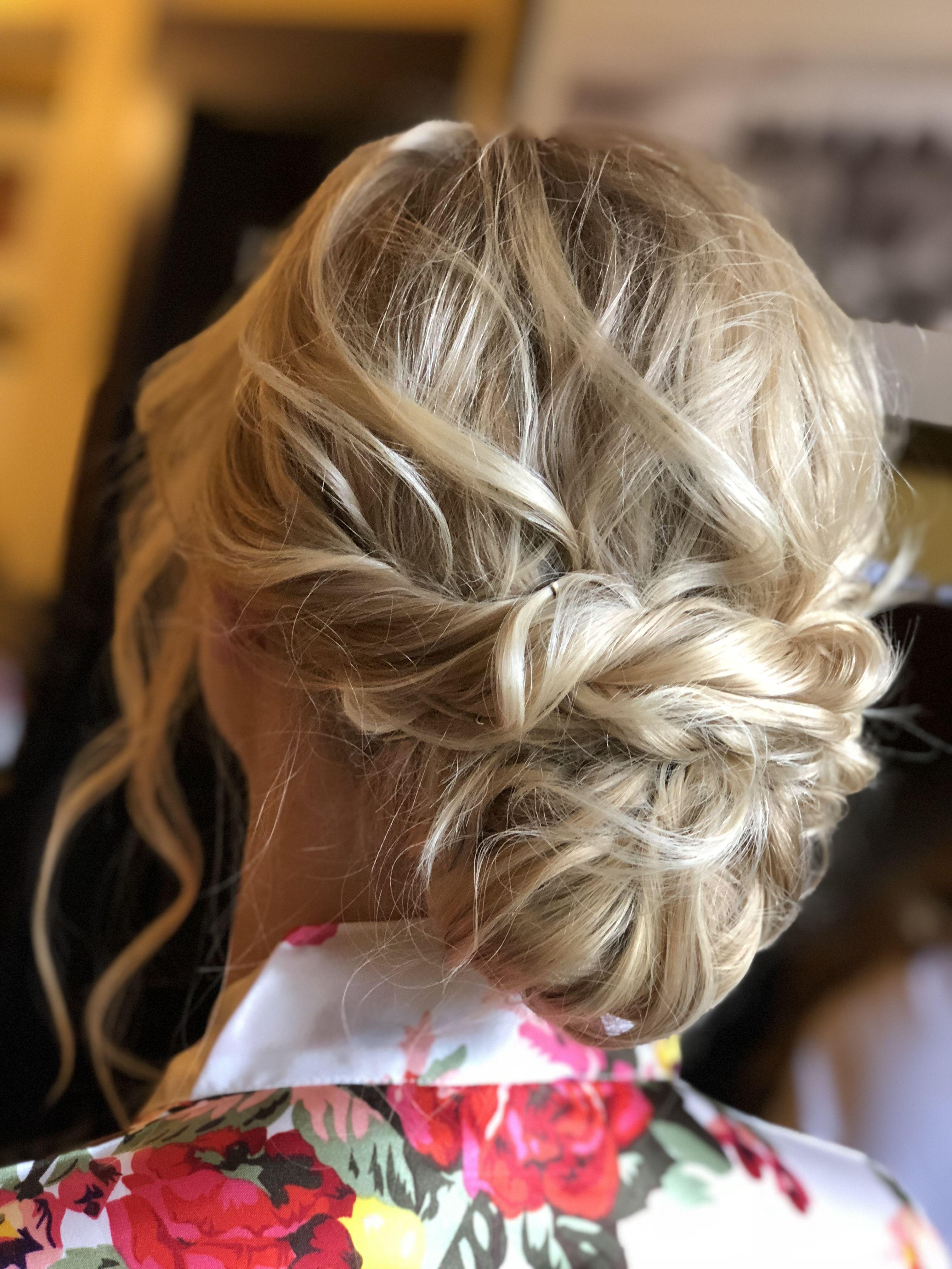 textured updo blonde updo fine hair updo chignon messy textured boho