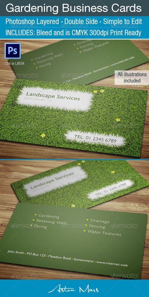Gardening Business Card Landscaping Business Cards Lawn Care Business Lawn Care Business Cards