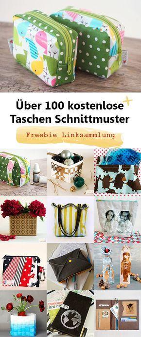 Über 100 kostenlose Schnittmuster für Taschen | Nähen | Pinterest ...