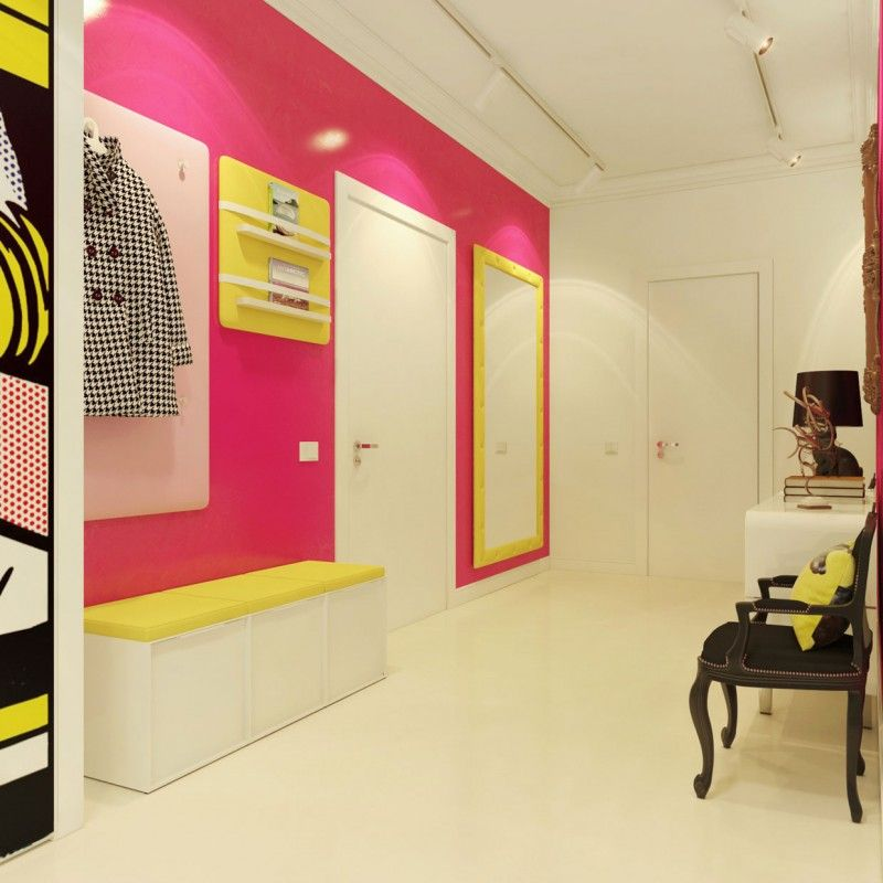 Pink and Proud! Paint an accent wall with Roy Lichtenstein inspired ...