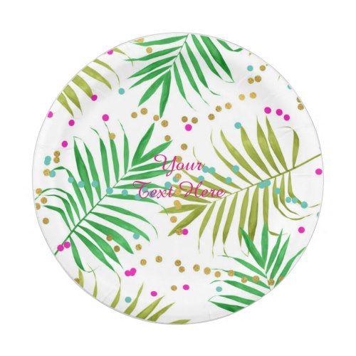 Aloha Luau Tropical Leaves Birthday Party Paper Plate  sc 1 st  Pinterest & Aloha Luau Tropical Leaves Birthday Party Paper Plate | Party Paper ...
