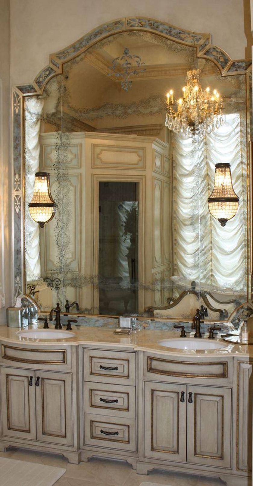 Awesome Country Mirror Bathroom Decor Ideas