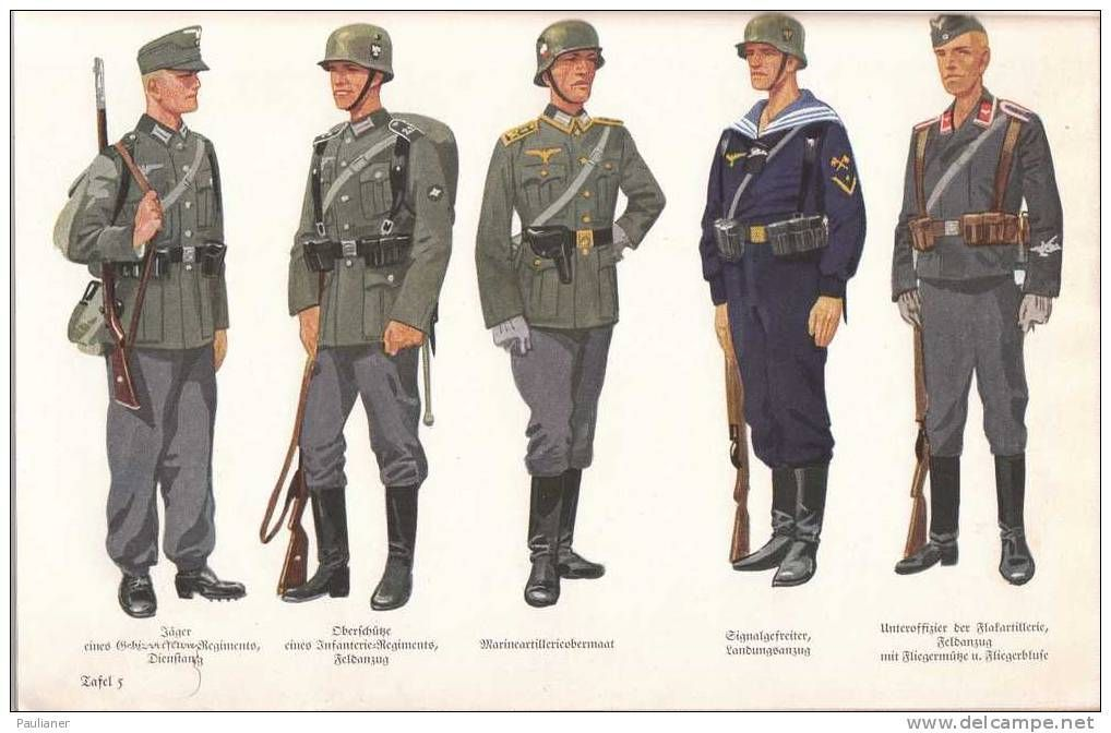 from left to right german wehrmacht enlisted soldiers