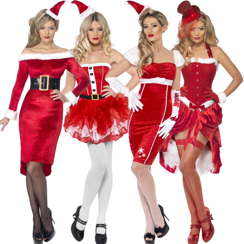 Ladies-Womens-New-Sexy-Christmas-Santa-Girl-Pinup-Fancy-Dress ...