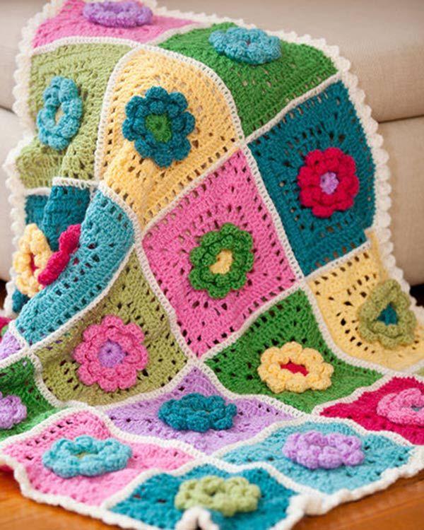 Best Free Crochet » Free Crochet Pattern Field of Dreams from RedHeart.com