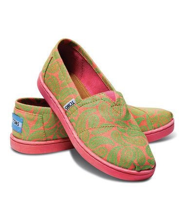Tom's Youth Classics Green Paisley Size 13 – Go Shop Shoes